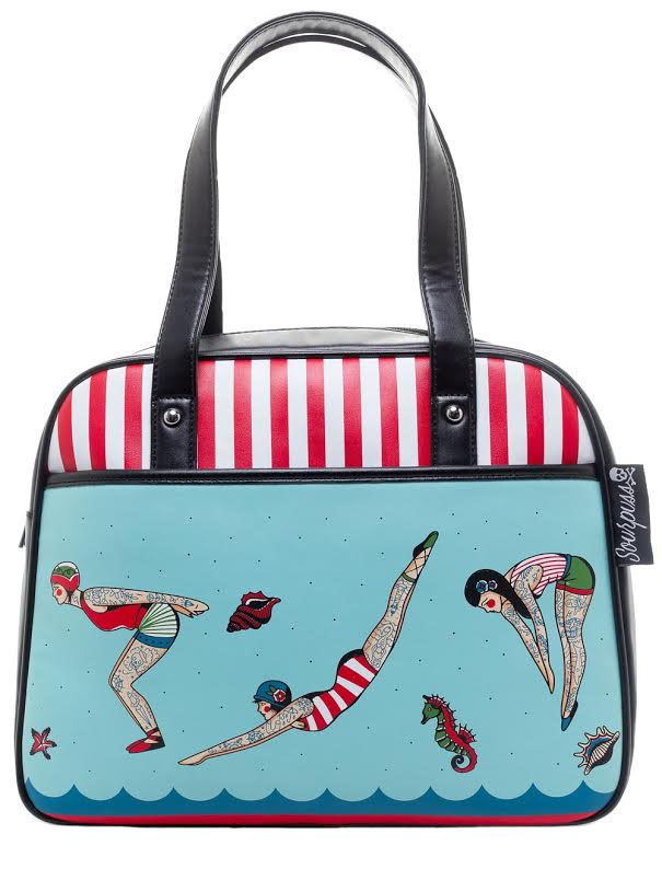 Tattooed Divers Bowler Purse by Sourpuss - SALE