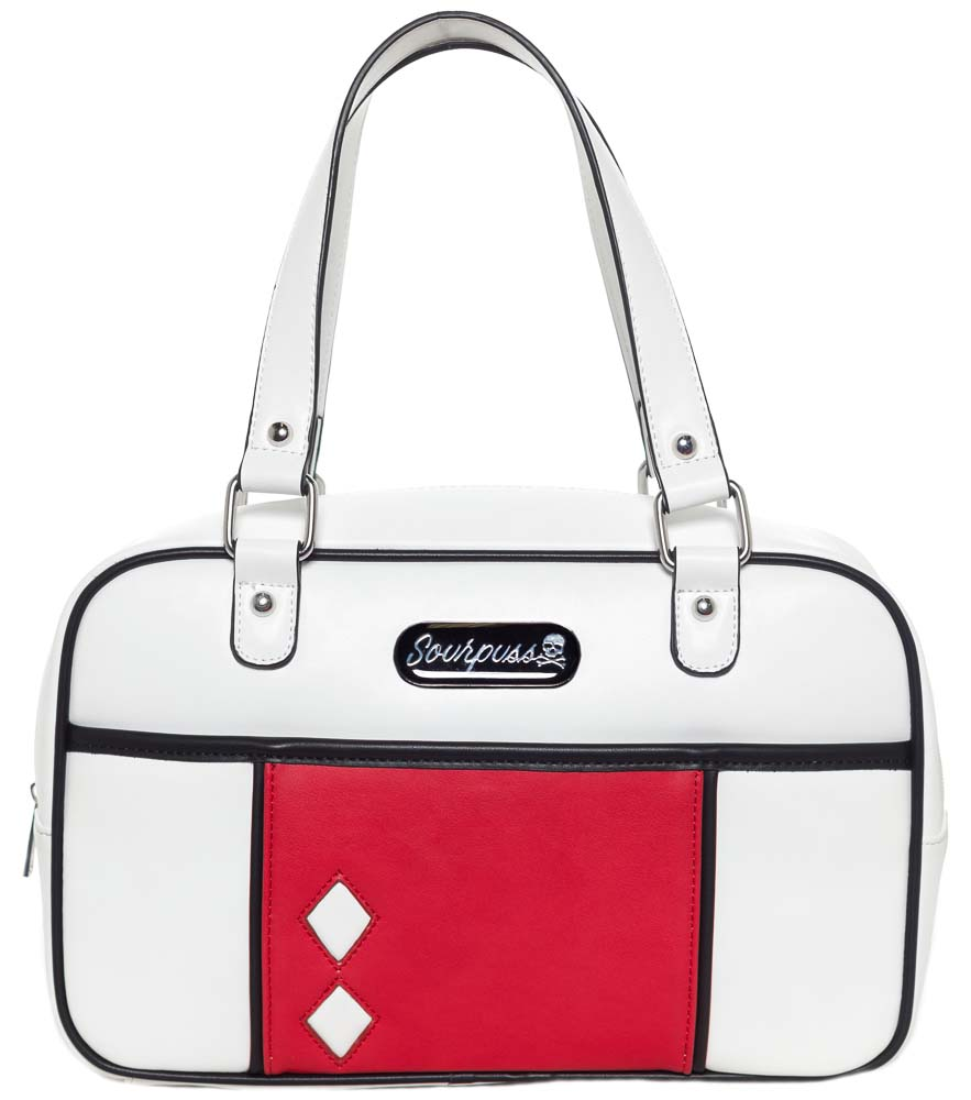 Mod Block Purse in WHITE by Sourpuss - SALE
