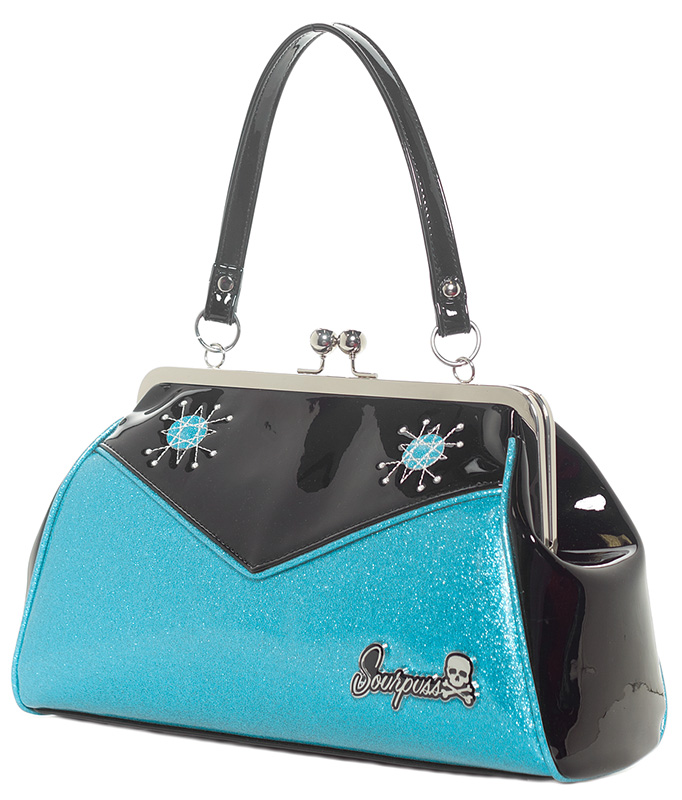 Backseat Baby Kisslock Sputnik Bag - BABY BLUE - by Sourpuss