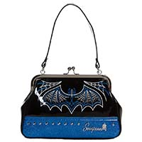 Batty Pinstripe Purse in by Sourpuss - in Blue