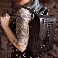 Idoless Black Pyramid Stud Backpack by Sourpuss