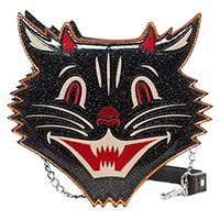 Halloween Black Cat Purse in by Sourpuss