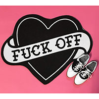 F*ck Off Heart Rug by Sourpuss