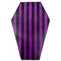 Black & Purple Striped Coffin Rug by Sourpuss