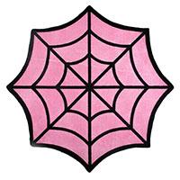 Pink Full Spiderweb Rug by Sourpuss