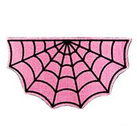 Pink Small Half Spiderweb Rug by Sourpuss