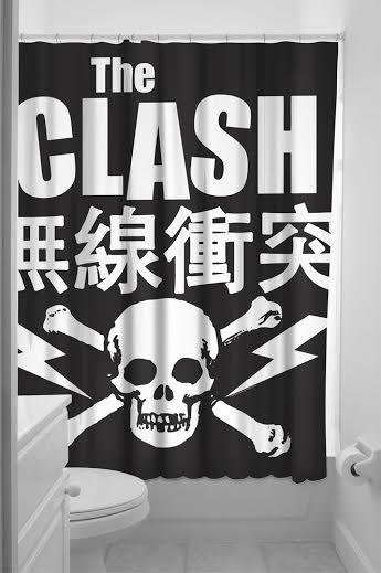 Sourpuss Clash- Skull Shower Curtain - SALE