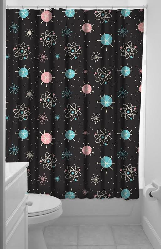 Sourpuss 50s Sputnik Shower Curtain