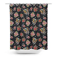 Sourpuss Punk Rock Girl Shower Curtain - SALE