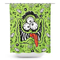 Sourpuss Fink Face Dumb Junk Shower Curtain