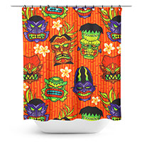 Monster Tiki Shower Curtain by Sourpuss