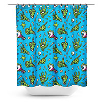 Zombie Hands Shower Curtain by Sourpuss