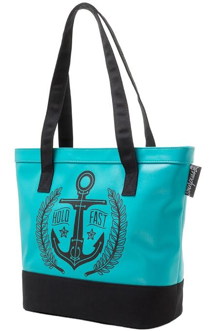 Hold Fast Vinyl Tote Bag by Sourpuss - SALE