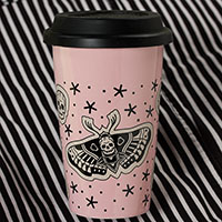 Death Moth Tumbler by Sourpuss