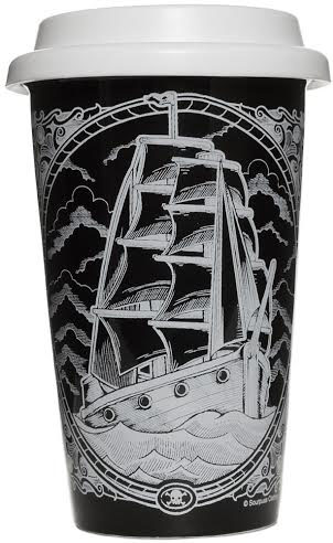 Hot or Cold Drink Tumbler from Sourpuss -Clipper Ship - SALE