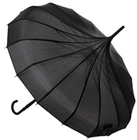 Pagoda Vintage Style Umbrella from Sourpuss in Black