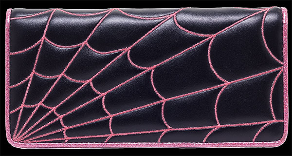 Pink Spiderweb Clutch Wallet by Sourpuss - SALE