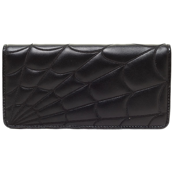 Black Spiderweb Clutch Wallet by Sourpuss