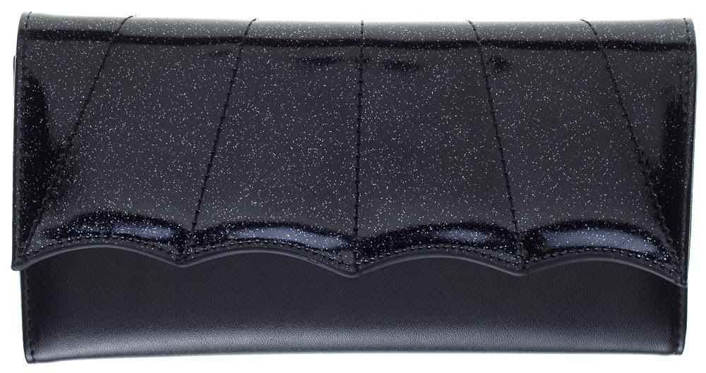 Bat Wing Wallet by Sourpuss - Black/Black