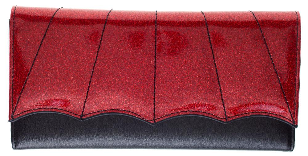 Bat Wing Wallet by Sourpuss - Black/Red - SALE