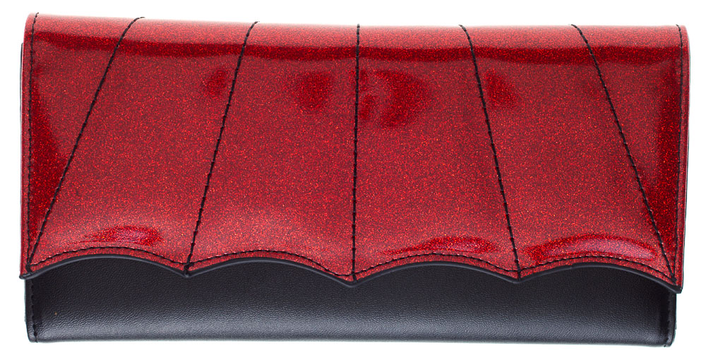 Bat Wing Wallet by Sourpuss - Black/Red