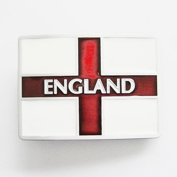 England Flag Belt Buckle (bb163)