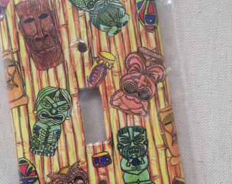 Tikis light switch plate by Instant Living