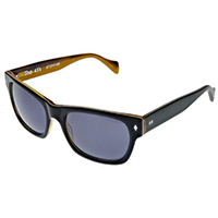 The 45's Sunglasses by Tres Noir- BLACK / HONEY TORTOISE