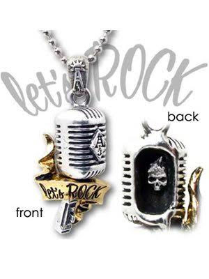 Let's Rock Unisex 50's Microphone Pendant Necklace by Alchemy England 1977