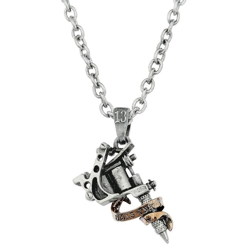 Tattoo Gun Unisex Pendant Necklace by Alchemy England 1977