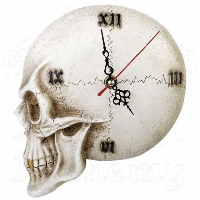 Skull Wall Clock by Alchemy England 1977