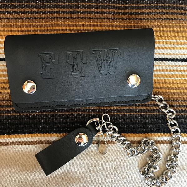 FTW 6 inch Biker leather wallet by Switchblade Stiletto