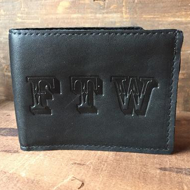 FTW Bi-Fold leather wallet by Switchblade Stiletto