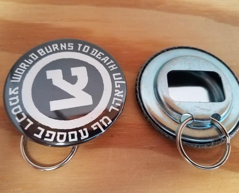 World Burns To Death- Symbol bottle opener