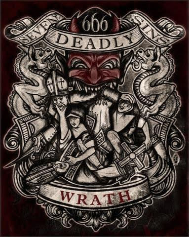 Wrath Art Print from Se7en Deadly - SALE