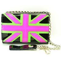 Neon Union Jack Wallet by Funk Plus