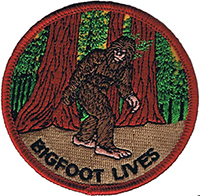 Bigfoot Lives embroidered patch (ep227)