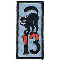 Black Cat 13 embroidered patch (ep228)