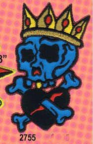 Crowned Skull embroidered patch (Reed art) (ep121)