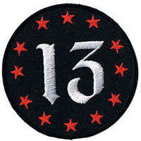 13 & Stars embroidered patch (ep226)
