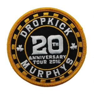 Dropkick Murphys- 20th Anniversary (Poker Chip) embroidered patch (ep430)