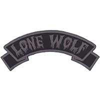 Lone Wolf Embroidered Patch by Kreepsville 666 (ep943)