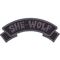 She Wolf Embroidered Patch by Kreepsville 666 (ep946)
