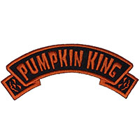 Pumpkin King Arch Embroidered Patch by Kreepsville 666 (ep269)
