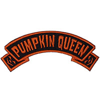 Pumpkin Queen Arch Embroidered Patch by Kreepsville 666 (ep118)