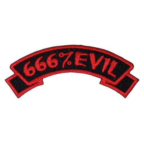 666% Evil Embroidered Patch by Kreepsville 666 (ep348)
