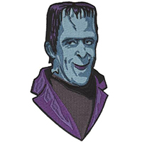 Herman Munster Embroidered Patch by Retro-a-go-go