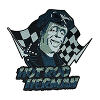 Hot Rod Herman Munster Embroidered Patch by Retro-a-go-go