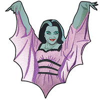 Lily Munster Embroidered Back Patch by Retro-a-go-go