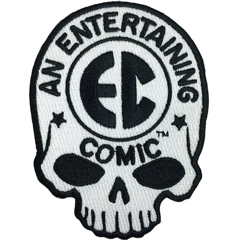 EC Comic Skull Logo Embroidered Patch by Kreepsville 666 (ep202)